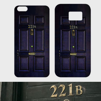 SHERLOCK 221B DOOR PHONE CASE(iPhone,galaxy)