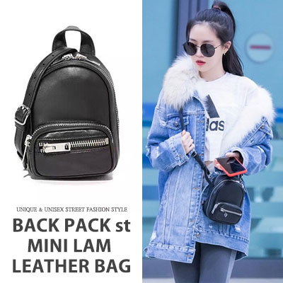 [UNISEX] BACKPACK STYLE MINI LAM LEATHER BAG