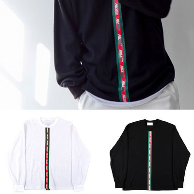 [UNISEX]GREEN&RED LINE POINT THERMAL WAFFLE SWEATSHIRTS(2color)