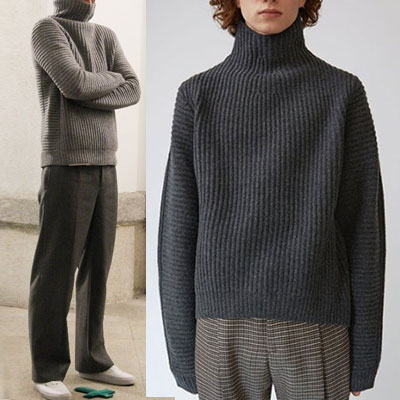[UNISEX] k-drama'GOBLIN'Gong yu style! LOOSE WOOL TURTLENECK KNIT(3color)