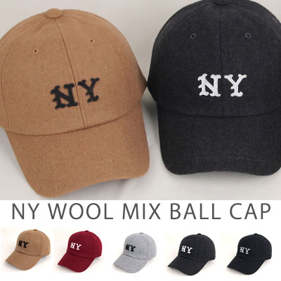 [WOOL MIX] NY WOOL MIX BALL CAP(5color)