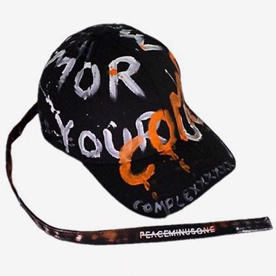 [UNISEX] COMPLEX ORANGE WHITE BRUSH LETTERING CAP
