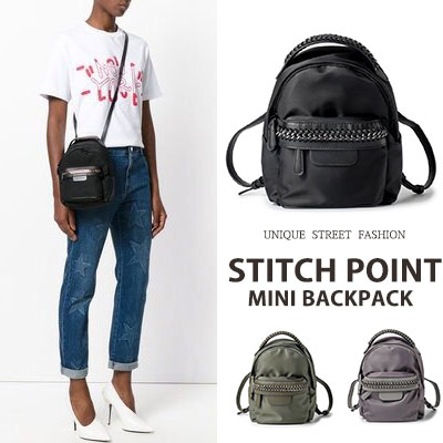 STITCH POINT MINI BACKPACK(3color)