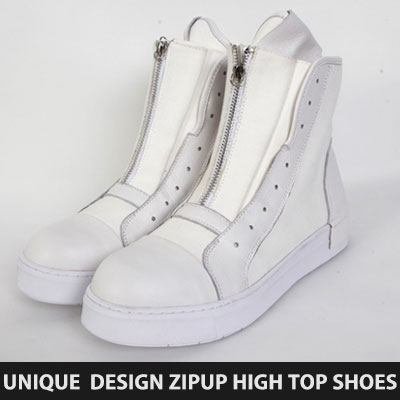 [25.5~28.0cm] UNIQUE DESIGN ZIPUP HIGH TOP SHOES(3color)