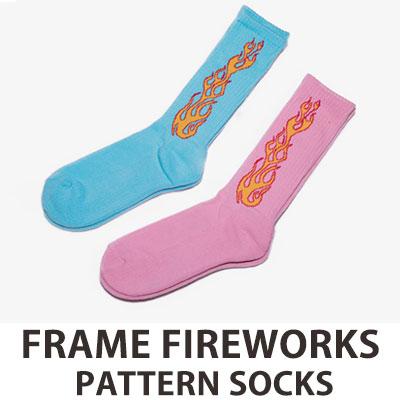 [UNISEX] FRAME FIRE WORKS PATTERN SOCKS(2color)