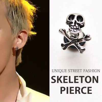 [Surgical stainless ] BigbangStyle Accessories ◆ GD skeleton earrings/G-DRAGON