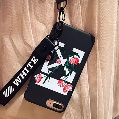 FLOWER & ARROW PRINT STRAP iPHONE CASE(2color)