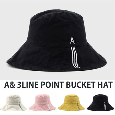 [UNISEX] A/3 LINE POINT BUCKET HAT(4color)