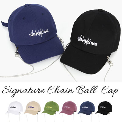 [UNISEX] SIGNATURE CHAIN BALL CAP(6color)