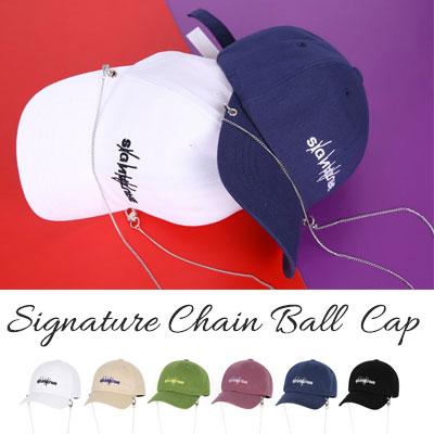 [UNISEX] SIGNATURE CHAIN BALL CAP(6color)