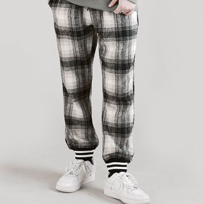 [UNISEX] CHECK JOGGER PANTS(2color)