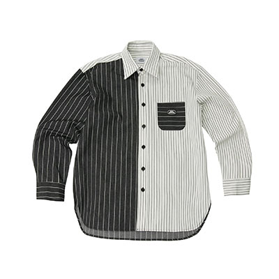 【2XADRENALINE】Stripe Color Match Shirt