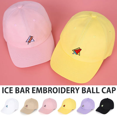[UNISEX] ICE BAR EMBROIDERY BALL CAP(6color)