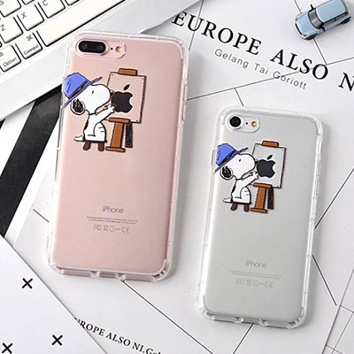ARTIST SNOOPY CLEAR iPhone CASE