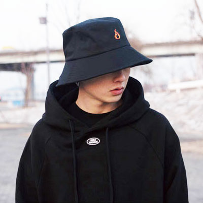 【2XADRENALINE】Raglan Color Match Hood   -  BLACK