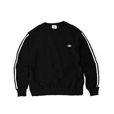 【2XADRENALINE】Taping Sleeve Sweatshirt - Black