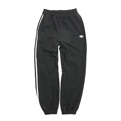 【2XADRENALINE】One side taping sweat pants - BLACK