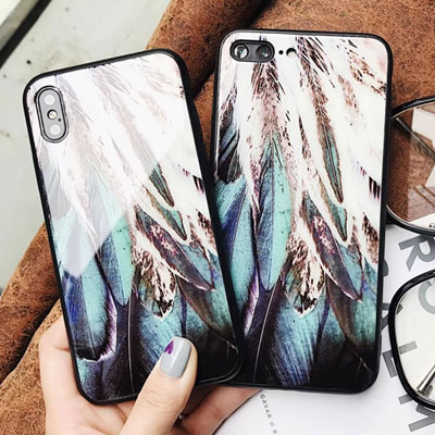DREAMY MOOD FEATHER iPHONE CASE(2color)