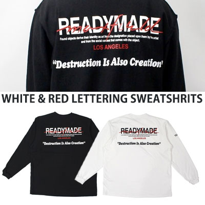 [UNISEX] WHITE RED LETTERING SWEATSHIRTS(2color)