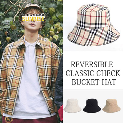 [UNISEX] WINNER Lee Seung Hoon st.REVERSIBLE CLASSIC CHECK BUCKET HAT(3color)