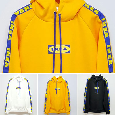 [UNISEX] SUPERMARKET LOGO TAPE PULLOVER HOODIE(3color)