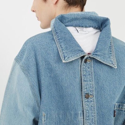 [UNISEX] DOUBLE BACK 2WAY DENIM SHIRTS