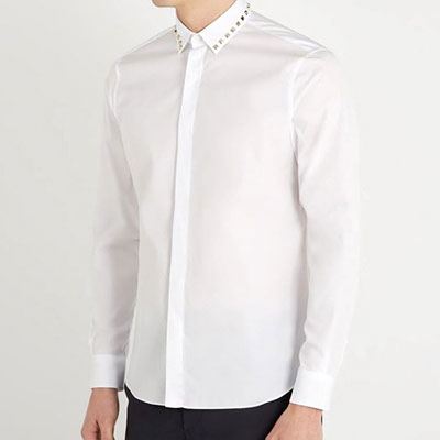 STUD POINT COLLAR LONG SLEEVE SHIRTS(3size)