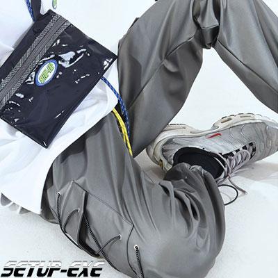 【SETUP-EXE】 SIDE POCKET PANTS - SHINY GRAY