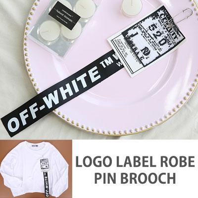 [UNISEX] LOGO LABEL ROBE PIN BROOCH