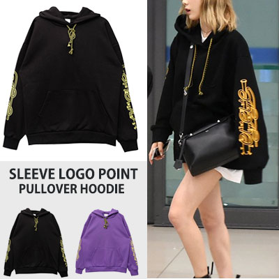 [UNISEX] SNSD Taeyeon st. SLEEVE LOGO POINT PULLOVER HOODIE(2color)