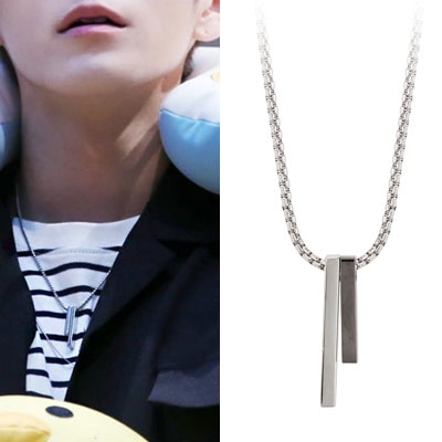 Wanna One| Ong Seong Woo st. UNBALANCE TWIN NECKLACE(2color)
