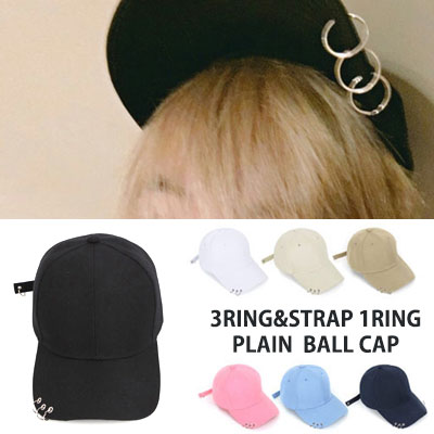 [UNISEX] BTS SUGA st. 3RING STRAP 1RING PLAIN BALL CAP(7color)