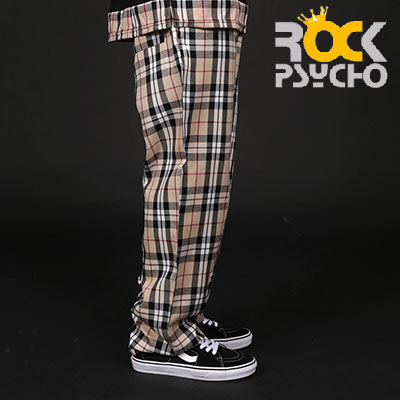 【ROCK PSYCHO】 LONDON CHECK PANTS-BEIGE