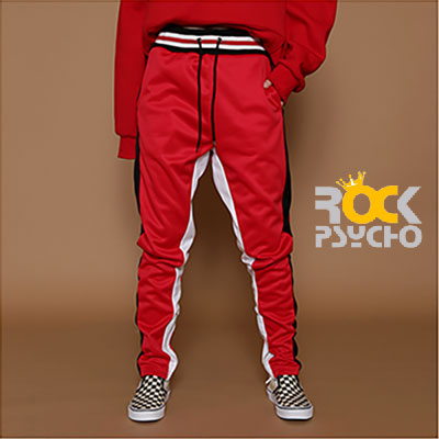 【ROCK PSYCHO】 ROCK OF GOD JERSEY PANTS -RED