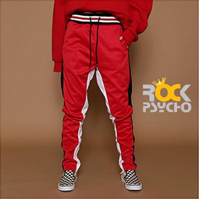 【ROCK PSYCHO】 ROCK OF GOD JERSEY PANTS -RED