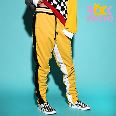 【ROCK PSYCHO】 ROCK OF GOD JERSEY PANTS -YELLOW