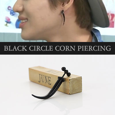 K-POP IDOL SHINee Temin wear ★ Black Circle Corn Piercing (other)