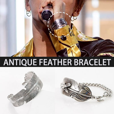 BIGBANG SOL [MADE] active fashion items! Antique feather wings bracelet Antique feather ANTIQUE FEATHER BRACELET