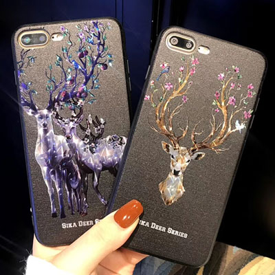 MOTHER OF PEARL DEER PHONE CASE(2type)