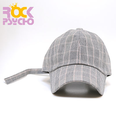 【ROCK PSYCHO】GLEN CHECK BALL CAP