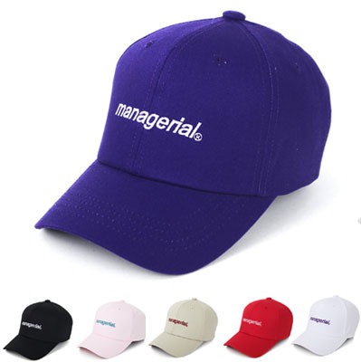 [UNISEX] COLOR EMBROIDERY MANAGERIAL BALL CAP(6color)