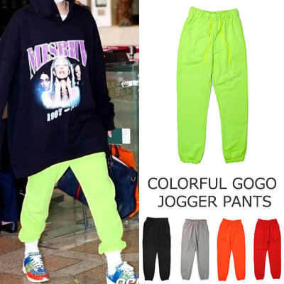 [UNISEX] Block B ZICO !BTS GOGO STYLE/COLORFUL GOGO JOGGER PANTS(5color)