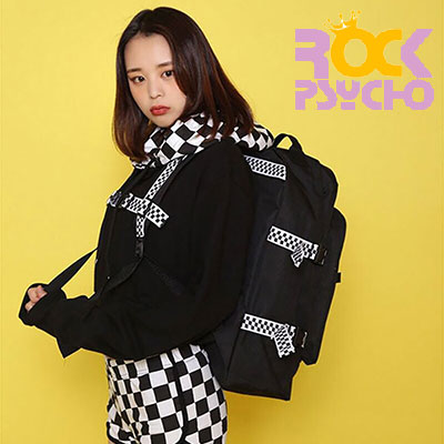 【ROCK PSYCHO】 CHECKER BOARD BACKPACK