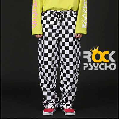 【ROCK PSYCHO】CHECKER BOARD WIDE PANTS