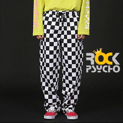 【ROCK PSYCHO】CHECKER BOARD WIDE PANTS