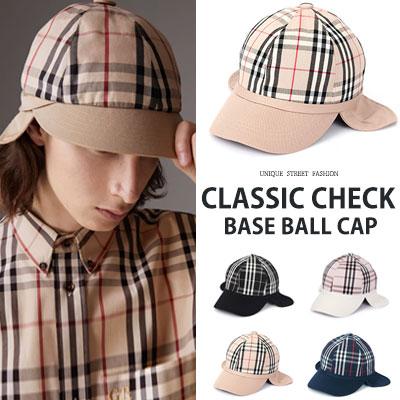[UNISEX] CLASSIC CHECK BASEBALL CAP(4color)