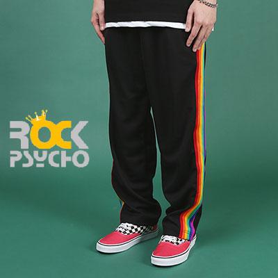【ROCK PSYCHO】RAINBOW TRACK PANTS(L,XL)