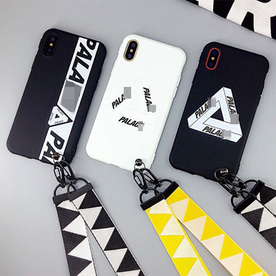 TRIANGLE LOGO POINT STRAP PHONE CASE(3type)