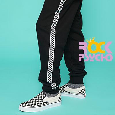 【ROCK PSYCHO】CHECKER BOARD JOGGER PANTS (M/L/XL)