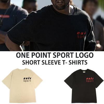 [UNISEX] KANYE WEST st.ONE POINT SPORT LOGO SHORT SLEEVE T-SHIRTS(2color)
